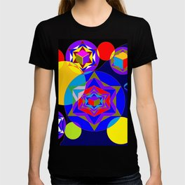 A Galaxy of Stars, Cubes and Planets T-shirt