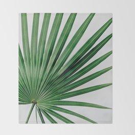 Palm Leaf Detail Throw Blanket