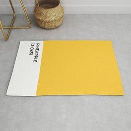 Pineapple Pantone Chip •Yellow • Sunflower • Summer • Golden Hour • Sunshine • Sunny • Happy • Art Rug