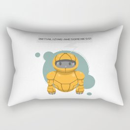 Robotics engineer Roboter initializing awesomeness Rectangular Pillow