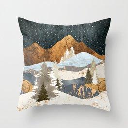 Winter Stars Throw Pillow