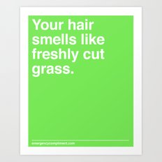 Freshly Cut Grass Art Print