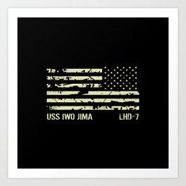 USS Iwo Jima Art Print