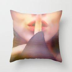 Shhhh Throw Pillow