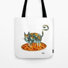 Pepperoni, Black Olives and Cat Tote Bag