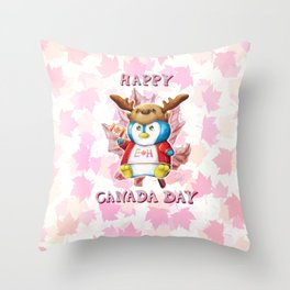 Canada Day 2019 - Eh - ALT CLR - Text Throw Pillow