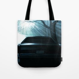 CADILLAC DEVILLE CAR AT DRAMATIC STREET DURING NIGHT Tote Bag