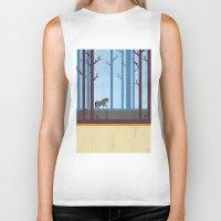 woods Biker Tanks featuring Woods by Kakel