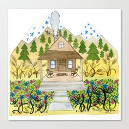 Welcome Cabin Canvas Print