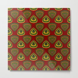 Red african fabric  Metal Print