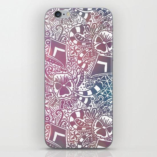 Theta Print-Pastel iPhone & iPod Skin