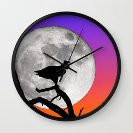 Vulture with Supermoon Wall Clock