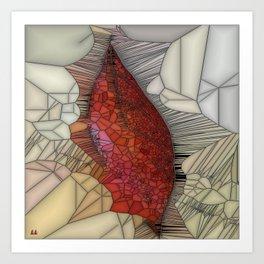 Creame De'Leaf Art Print