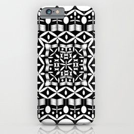 Mandala Square Black & White iPhone Case
