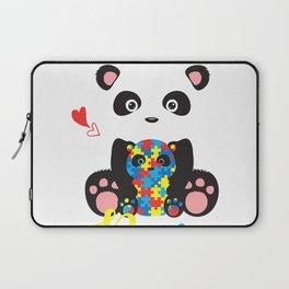 Cute Panda Bear Lovers PaPa Panda Autism Father Puzzle Baby T-Shirt Laptop Sleeve