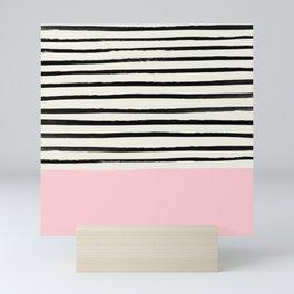 Millennial Pink x Stripes Mini Art Print
