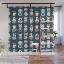 Doggie Coffee and Tea Time II Wall Mural