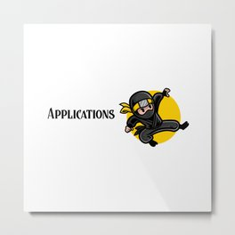 Efficient Applications Architect Metal Print