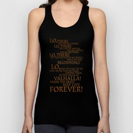 Viking Prayer Unisex Tank Top