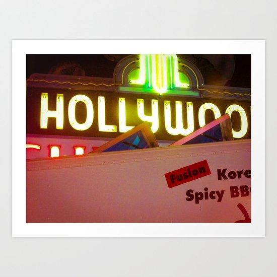 Hollywood Neon Art Print