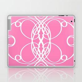 Pink White Swirl Laptop & iPad Skin