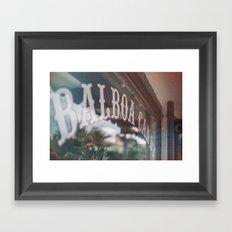 Balboa Candy Framed Art Print