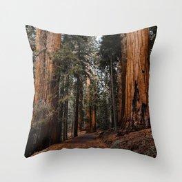 Walking Sequoia 2 Throw Pillow