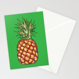 Pineapple, tropical, Hawaii Stationery Cards