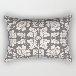 Floral Mirror Rectangular Pillow