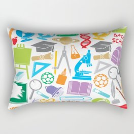 education and school icons background (seamless pattern) Rectangular Pillow