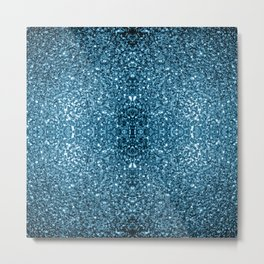 Beautiful Baby blue glitter sparkles Metal Print