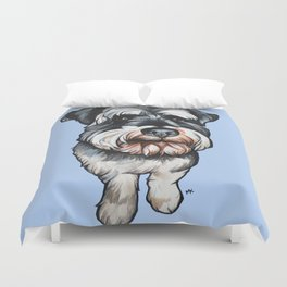 Barney the Miniature Schnauzer Duvet Cover
