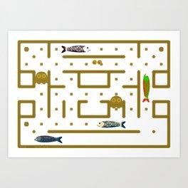 Pac-Fish Art Print