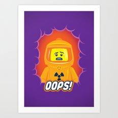 Oops! Art Print