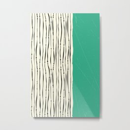 Moss Zebra Stripes Metal Print