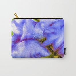 Lavender Flowing Iris Petals Carry-All Pouch