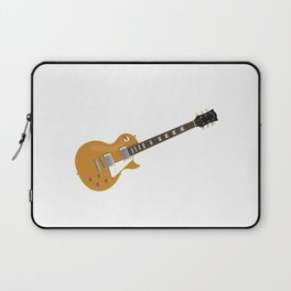 Gold Electric Guitar Laptop Sleeve