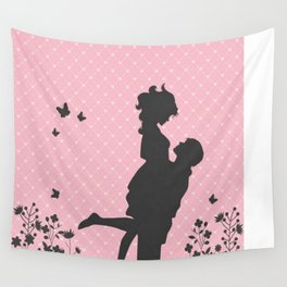 Aimer Silhouette  Wall Tapestry