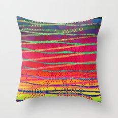Watercolor Batik Throw Pillow