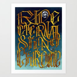 Ride Eternal Shiny & Chrome Art Print