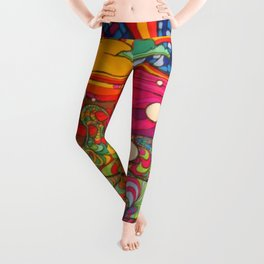 Psychadelic Illustration Leggings
