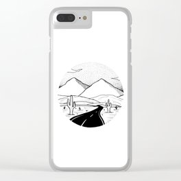 On the way to the desert Clear iPhone Case