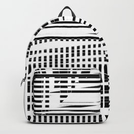 jumbled stripes Backpack