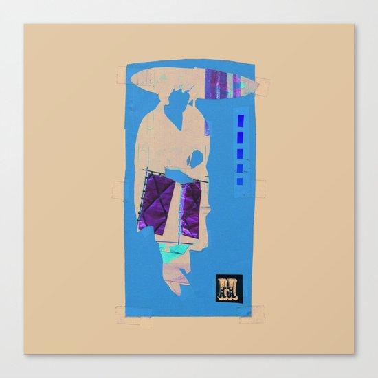 H Silhouette Canvas Print