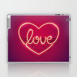 Love Heart Neon Sign Laptop & iPad Skin