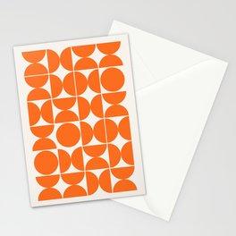 Mid Century Modern Abstract Poster Wall Art Print, Orange Blue Black Abstract Print, Retro Art, Livi Stationery Cards
