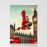 england Stationery Cards featuring ENGLAND by mark ashkenazi