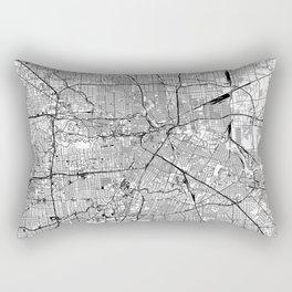 Houston White Map Rectangular Pillow