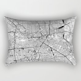 Houston White Map Rectangular Pillow
