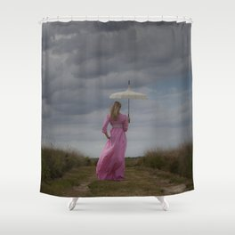 Waiting for the rain Shower Curtain